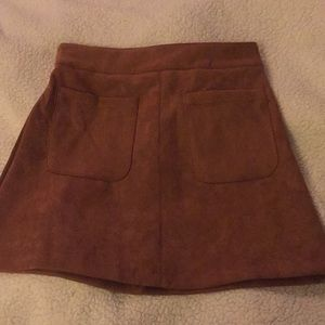 House of Three suede skirt